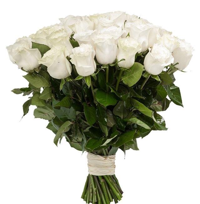 Купить белые розы в москве
